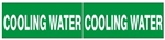 COOLING WATER PIPE MARKER - STYLE C - For Pipes 2-1/2 to 6 outside diameter 2 Markers per card 2.25 X 6
