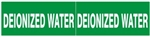 DEIONIZED WATER PIPE MARKER - STYLE C - For Pipes 2-1/2 to 6 outside diameter 2 Markers per card 2.25 X 6