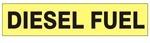 DIESEL FUEL Vinyl Pipe Marker - STYLE A -  for pipes 2½  to 6 inch outside diameter
