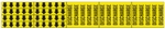 DISCHARGE Pipe Marker - STYLE F - For Pipes 3/4 outside diameter or less 8 Strips of arrows (5 ea. in a strip) 1/2 X 2 3/4 - 3 Strips legend (5 per strip) 2 1/4 X 2 3/4