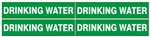 DRINKING WATER, PIPE MARKER - STYLE D - For Pipes 1 to 2-3/8 outside diameter 4 Markers per card 1-1/8 X 6