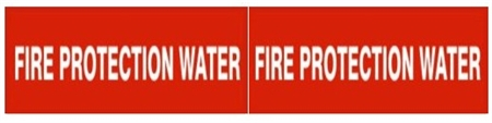 FIRE PROTECTION WATER, Pipe Marker - STYLE C - For Pipes 2-1/2 to 6 outside diameter 2 Markers per card 2.25 X 6