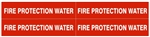 STYLE D - FIRE PROTECTION WATER, Pipe Marker -  For Pipes 1 to 2-3/8 outside diameter 4 Markers per card 1-1/8 X 6