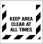 KEEP AREA CLEAR AT ALL TIMES - Floor Marking Stencil - 24 x 24