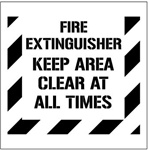 FIRE EXTINGUISHER KEEP AREA CLEAR AT ALL TIMES - Floor Marking Stencil - 24 x 24