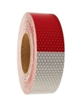 Red/ White DOT C2 Reflective Conspicuity Tape - 2 X 10 or 50 yard rolls