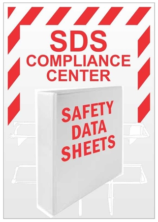 "SDS Compliance Center With Rack & Binder - 24"" X 18"" Constructed of high-impact plastic"