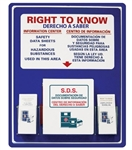 "Bilingual Right-To-Know Information Center With Binder - 30"" X 24"" Constructed of high-impact plastic"