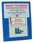 "Mini Right To Know Information Center With SDS Binder - 24"" X 18"" Constructed of high-impact plastic"