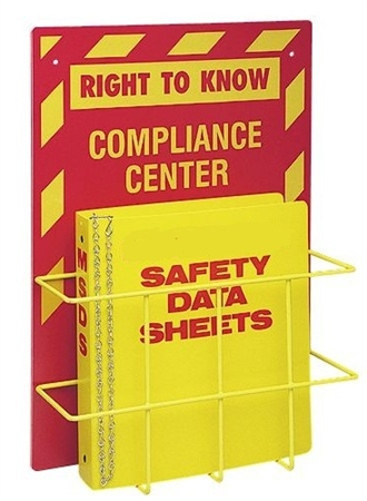 "Right-To-Know Compliance Center, Wall Mount with 1.5""  Binder - 20"" X 14"" Constructed of high-impact plastic"