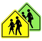 CROSSWALK SYMBOL Sign - Available in 30 X 30 or 36 X 36 Engineer Grade, Hi Intensity or Diamond Grade reflective .080 Aluminum