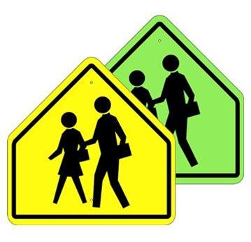 school crossing and pedestrian crosswalk symbol sign