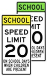 SCHOOL SPEED LIMIT 20 MPH Sign - Available in 24 X 48 Engineer Grade, Hi Intensity or Diamond Grade reflective .080 Aluminum