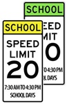 20 MPH SCHOOL ZONE SPEED LIMIT Sign - Available in 24 X 48 Engineer Grade, Hi Intensity or Diamond Grade reflective .080 Aluminum