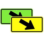 CROSSWALK ARROW RIGHT Sign - Available in 24 X 12 or 30 X 18 Engineer Grade, Hi Intensity or Diamond Grade reflective .080 Aluminum