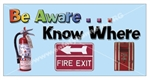 Fire Awareness Safety Banners and Posters, Choose from 6 sizes