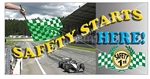Safety Starts Here Banners and Posters, Choose from 6 sizes