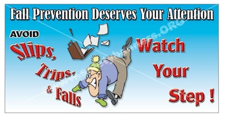 Fall Prevention Slogan Banners