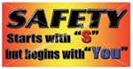 Safety Starts With S But Begins With You, Safety Banners and Posters, Choose from 6 sizes