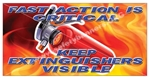 Keep Fire Extinguishers Visible, Safety Banners and Posters, Choose from 6 sizes