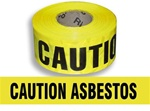 Caution Asbestos Barricade Tape - 3 X 1000 ft. Rolls - Durable 3 mil Polyethylene
