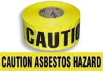 Caution Asbestos Hazard Barricade Tape - 3in.  X 1000 ft. Rolls - Durable 3 mil Polyethylene