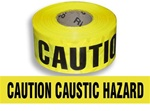 Caution Caustic Hazard Barricade Tape - 3 in. X 1000 ft. Rolls - Durable 3 mil Polyethylene