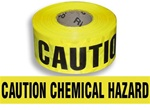 Caution Chemical Hazard Barricade Tape - 3 in. X 1000 ft. Rolls - Durable 3 mil Polyethylene