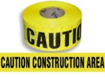 Caution Construction Area Barricade Tape - 3 in. X 1000 ft. Rolls - Durable 3 mil Polyethylene