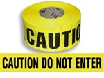 "Caution Do Not Enter Barricade Tape - 3"" X 1000"" Rolls - Durable 3 mil Polyethylene"