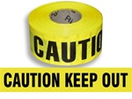Caution Keep Out - Barricade Tape - 3 in. X 1000 ft. Rolls - Durable 3 mil Polyethylene