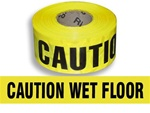 Caution Wet Floor - Barricade Tape - 3 in. X 1000 ft. Rolls - Durable 3 mil Polyethylene