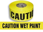 Caution Wet Paint Barricade Tape - 3 in. X 1000 ft. Rolls - Durable 3 mil Polyethylene