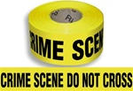 Crime Scene Do Not Cross - Barricade Tape - 3 in. X  1000 ft. lengths - 3 mil Durable Polyethylene - Stock legends ready for immediate shipment