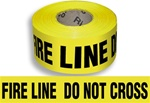 Fire Line Do Not Cross - Barricade Tape - 3 in. X 1000 ft. lengths - 3 mil Durable Polyethylene