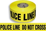 Police Line Do Not Cross - Barricade Tape - 3 in. X 1000 ft. lengths - 3 Mil Durable Polyethylene
