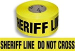 Sheriff Line Do Not Cross - Barricade Tape - 3 in. X 1000 ft. lengths - 3 Mil Durable Polyethylene