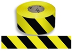 Black & Yellow Striped Barricade Tape - 3 in. X 1000 ft. lengths - 3 Mil Durable Polyethylene