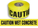 Caution Wet Concrete Barricade Tape - 3 in. X 1000 ft. Rolls - Durable 3 mil Polyethylene