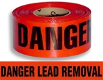 Danger Lead Removal - Barricade Tape - 3 X 1000 ft. lengths - 3 Mil Durable Polyethylene