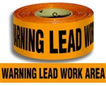 Warning Lead Work Area - Barricade Tape - 3 X 1000 ft. lengths - 3 Mil Durable Polyethylene