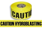 Caution Hydroblasting Barricade Tape - 3 X 1000 ft. Rolls - Durable 3 mil Polyethylene