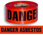 Danger Asbestos Barricade Tape - 3 in. X 1000 ft. Rolls - Durable 3 mil Polyethylene