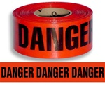 Danger, Danger Barricade Tape - 3 in. X 1000 ft. Rolls - Durable 3 mil Polyethylene