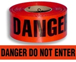 Danger Do Not Enter Barricade Tape - 3 in. X 1000 ft. Rolls - Durable 3 mil Polyethylene