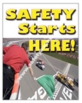 Vertical, Safety Starts Here Banners and Posters, Choose from 4 sizes plus 6 different size posters