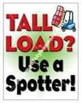 Vertical, Fork Lift Safety Banners and Posters, Choose from 4 sizes plus 6 different size posters