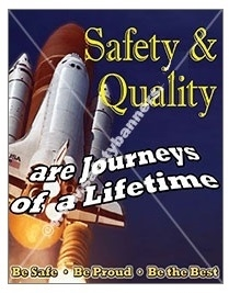 Vertical, Safety & Quality, Be Safe, Be Proud, Be The Best, Safety Banners and Posters, Choose from 4 sizes plus 6 different size posters