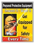 Vertical, Personal Protective Equipment, Safety Banners and Posters, Choose from 4 sizes plus 6 different size posters