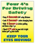 Vertical, Driver Awareness, Safety Banners and Posters, Choose from 4 sizes plus 6 different size posters